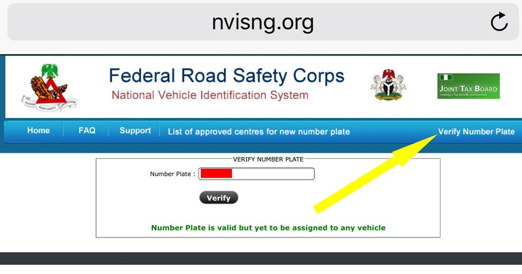 Plate number verification1