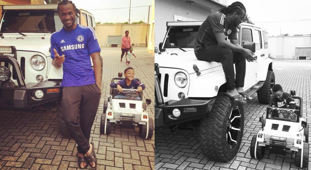 Paul-Okoye's-son-drives-Wrangler-Jeep