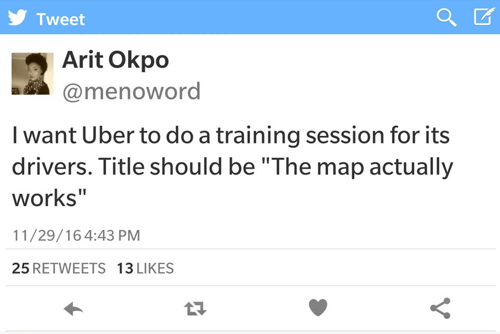 message for uber