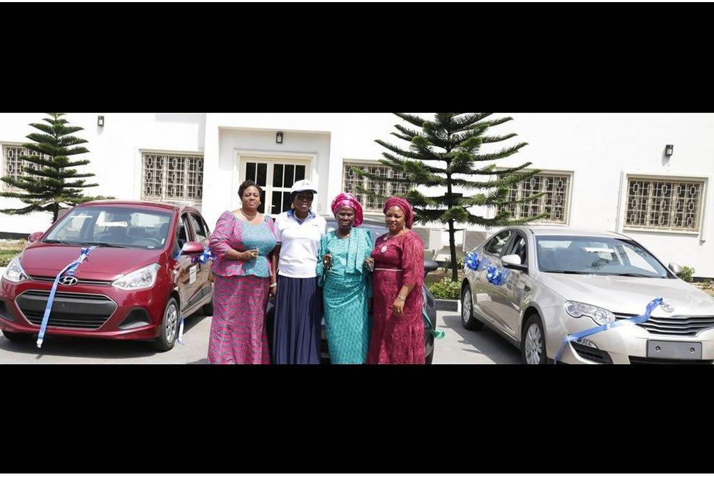 Mrs Bolanle Ambode presents cars