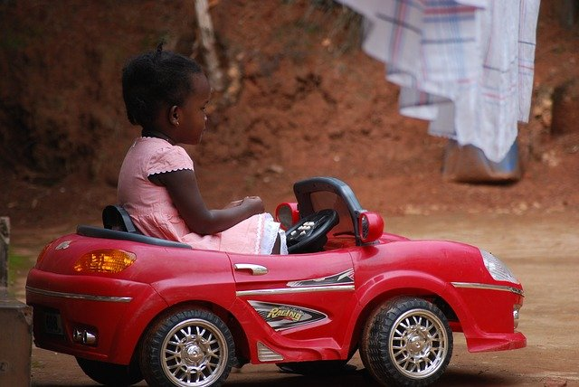 kid in a car