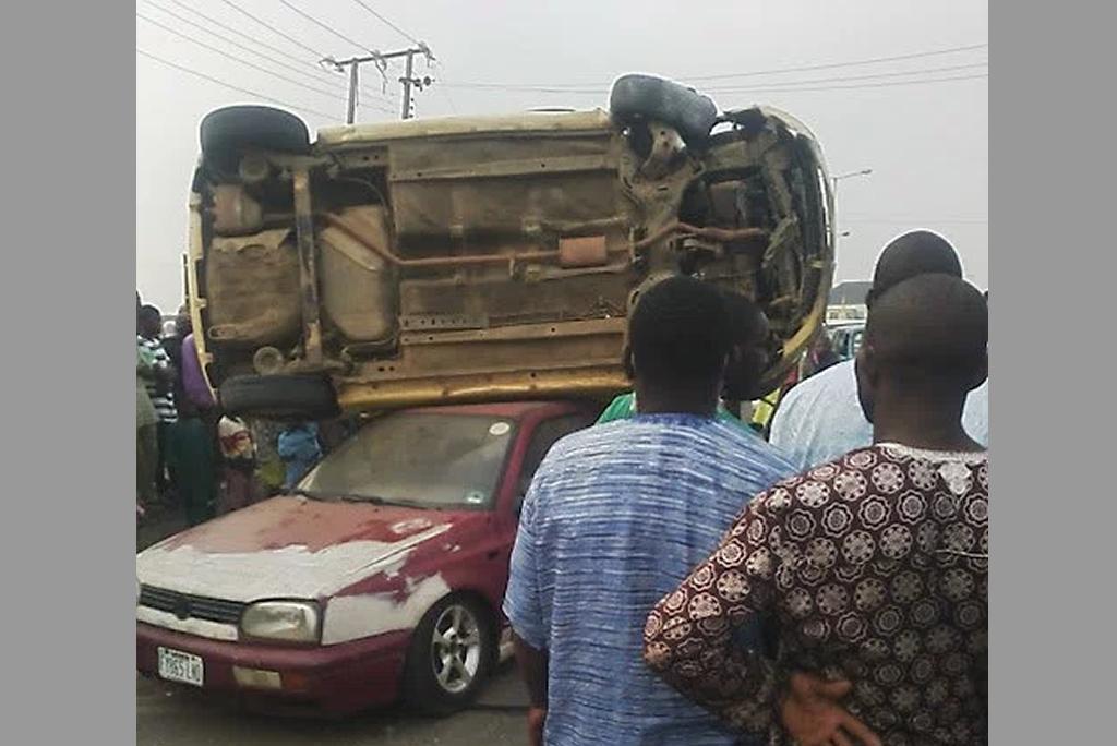 most unique car accident