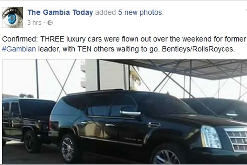 luxury cars jammeh acquired