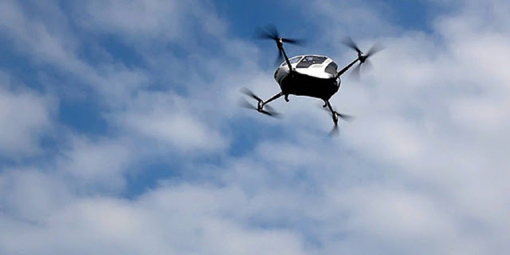 flying drone taxi