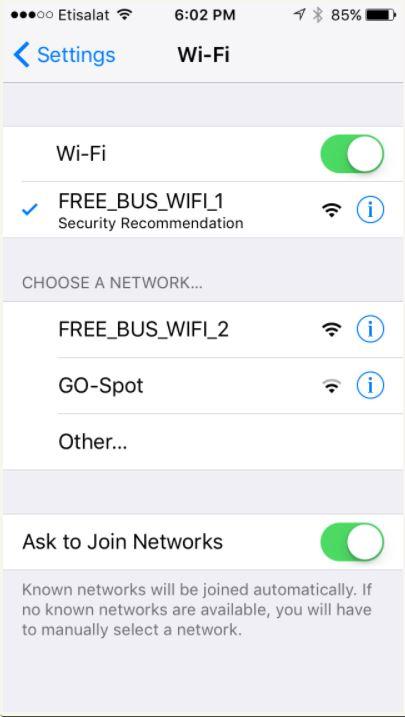 free wifi in brt buses