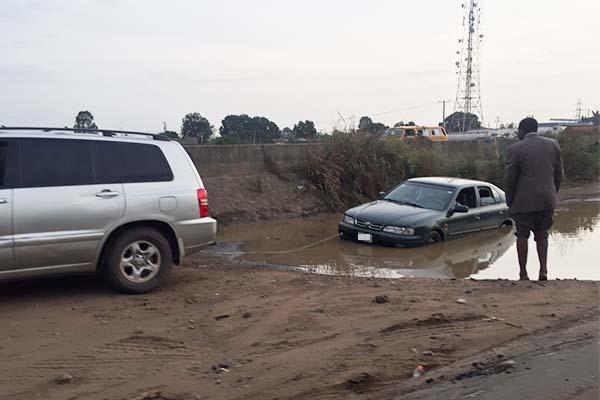 car-in-water