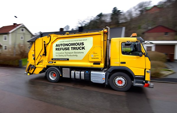 Volvo Unveils Autonomous Garbage Truck