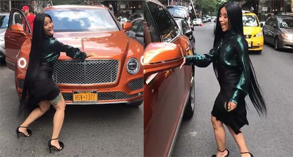 24 Year Old Cardi B Shows Off Her New N93m Bentley