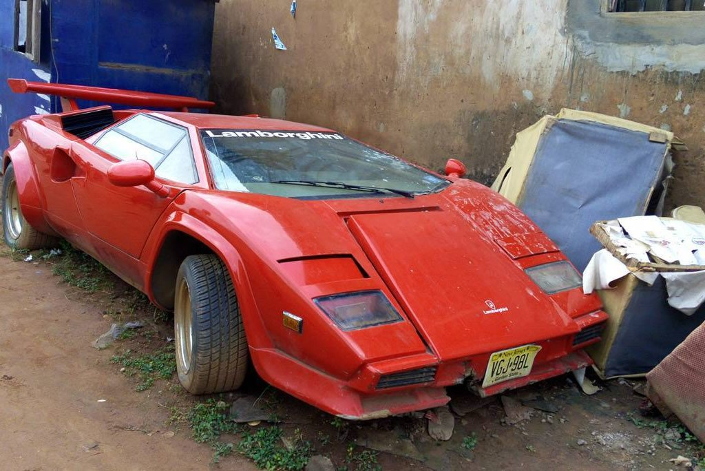 unbelievable n200million lamborghini countach abandoned in lagos autojosh. Black Bedroom Furniture Sets. Home Design Ideas