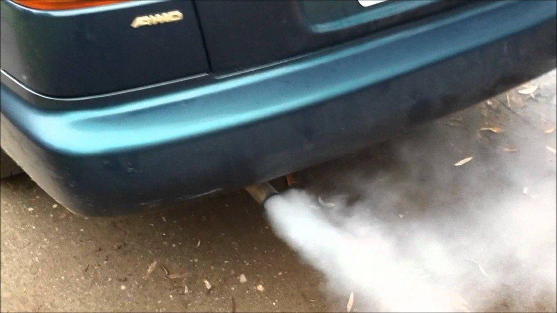 car exhaust smoke