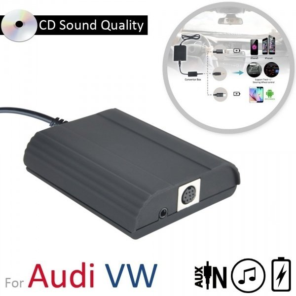 car audio auxiliary interface adapter for android and. Black Bedroom Furniture Sets. Home Design Ideas