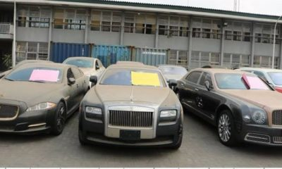 image of cars impounded for not paying the right customs duty