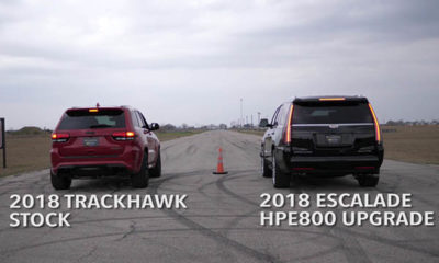 707 hp jeep trackhawk vs 800 hp cadillac escalade
