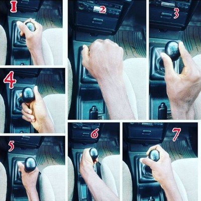 various ways to hold the gear selector.
