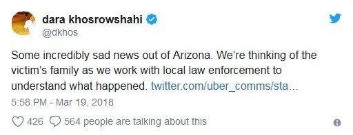 uber-ceo-tweet-on-driverless-car-accident