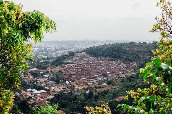milliken hill enugu nigeria aerial view