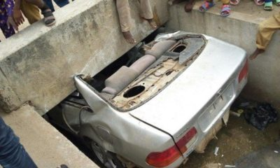 car fall into culvert