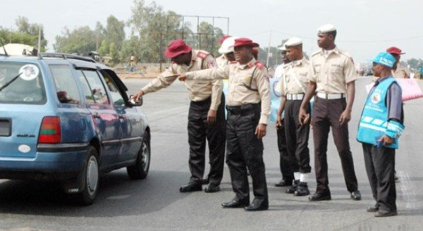 road safety officials on the road