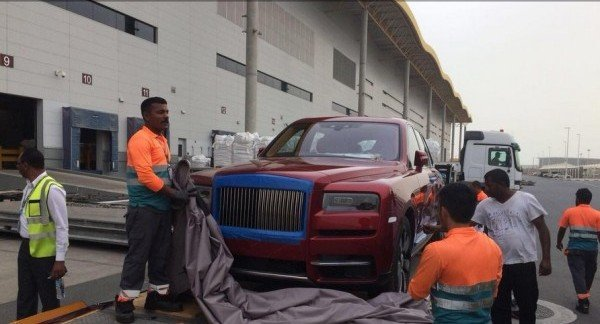rolls royce cullinan delivered to a sheikh