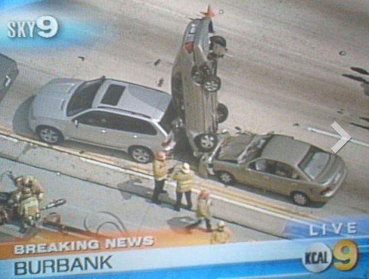 strange car accident