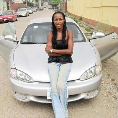 linda ikeji and her car in 2007