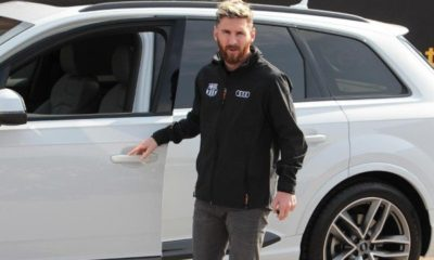 lionel messi and his Audi Q7
