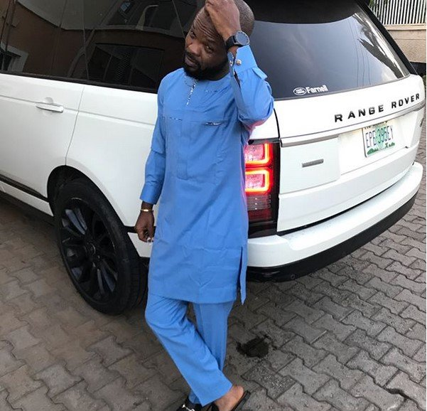 nedu wazobia on his range rover vogue