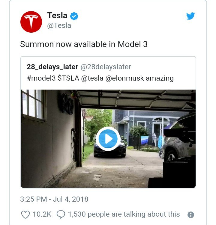 Tesla Model 3 Electric Car Can Now Park Itself Without A ...
