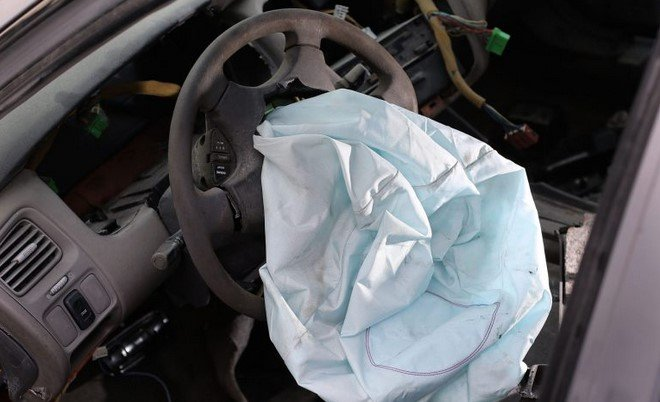 airbag shot out in a car