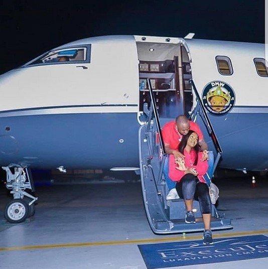 davido and chioma private jet