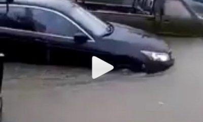 cars stuck in lagos flood
