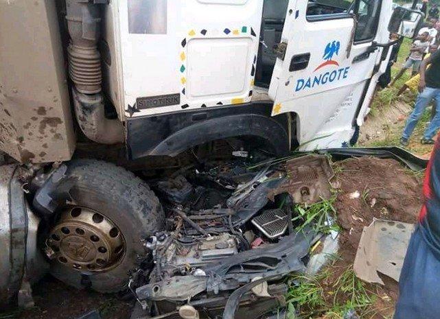 man crushed by dangote truck