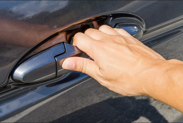 opening a car door handle