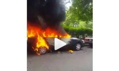 woman set husband car ablaze
