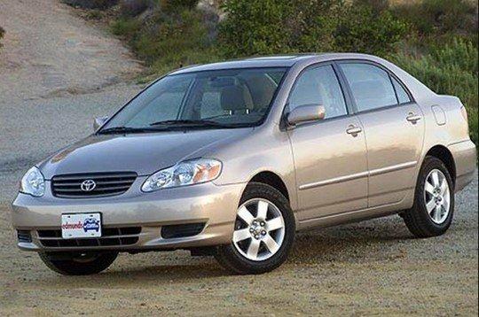 2003 corolla cheap car