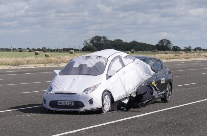 autmoated driving system in a crash