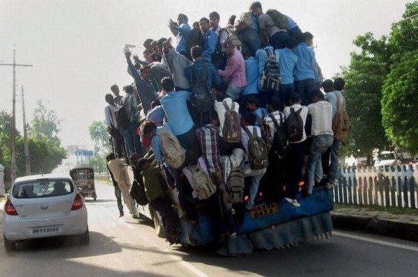 insanely overloaded vehicle