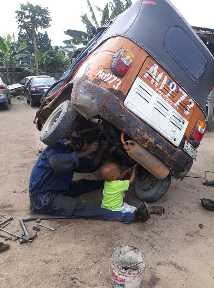 keke-mechanic-training-2-year-old-son