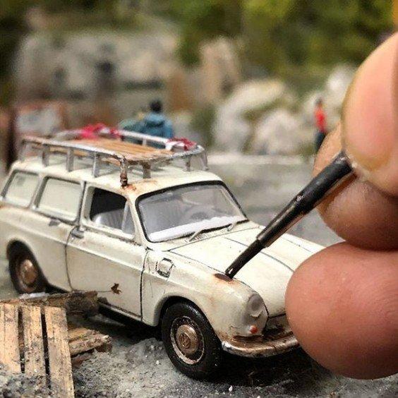 eddie putera miniature art cars