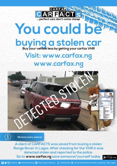 carfacts verification flier