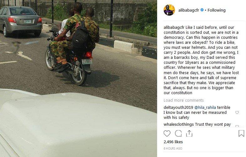 alibaba criticizes military men