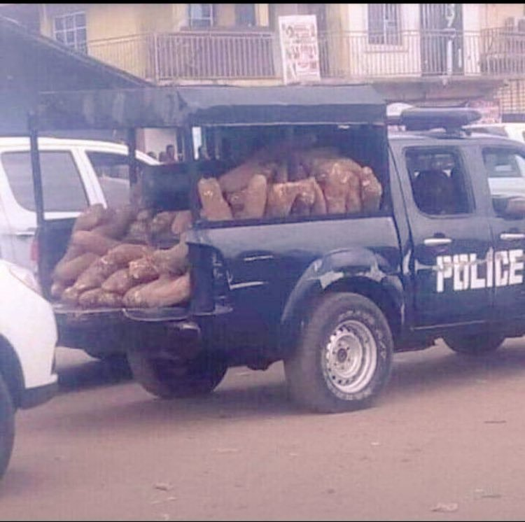nigerian police van