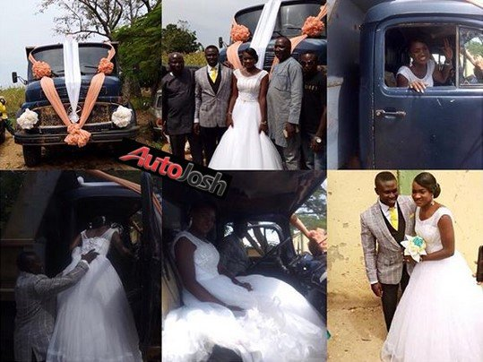 truck driver wedding car