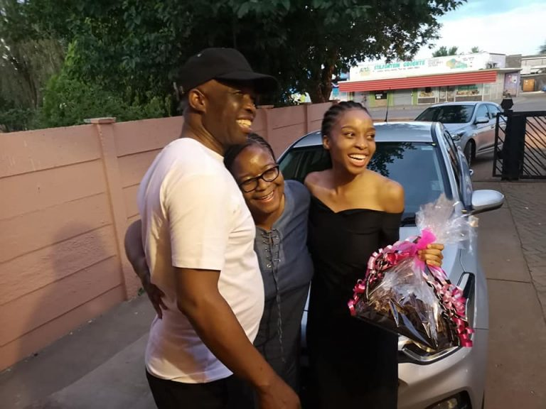 young girl gifted car