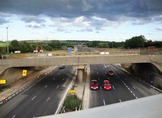 M1 bridge demolition UK