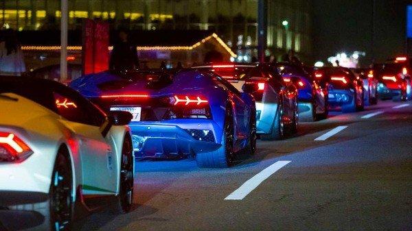 Over 200 Supercars Parade Japanese Streets To Mark Lamborghini Day