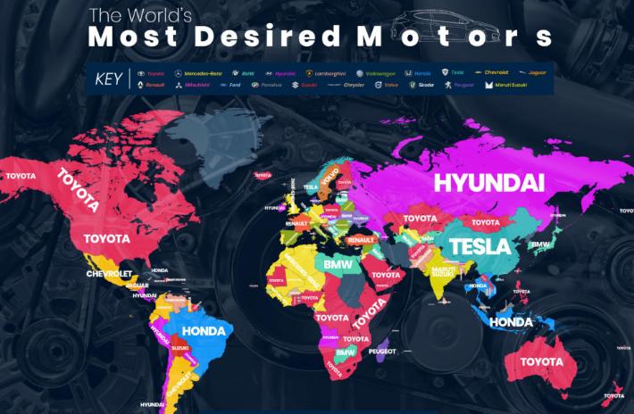most googled car brand 2018