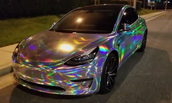 See The Dazzling Effects On This Tesla Model 3 Wrapped In ...