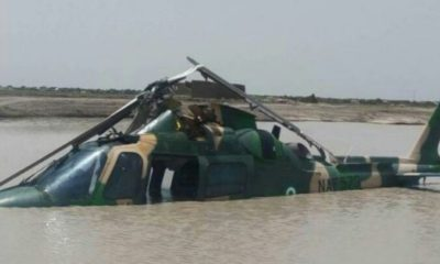 Nigerian Airforce helicopter crashed