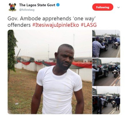 ambode apprehend traffic offender